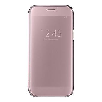 Samsung clear view wallet pouch cover EF ZA520 for Galaxy A5 A520F 2017 pink
