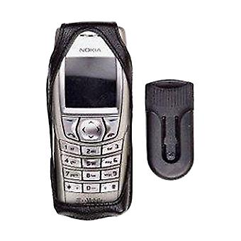 OEM Nokia Leather Case with Rotating Belt Clip for Nokia 6200 - Black