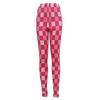 Pink Check Leggings UK 10