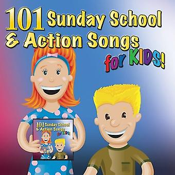Mansion Entertainment - 101 Sunday School & Action Songs for Kids [CD] USA import
