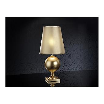 Schuller Terra Table Lamp, Gold Leave