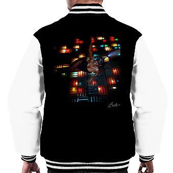 Grace Jones Disco Lights Photoshoot 2008 Men's Varsity Jacket
