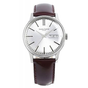 Simon Carter Watch - braun/Silber