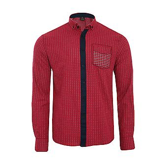 Tazzio fashion shirt men's long sleeve-shirt red G-704