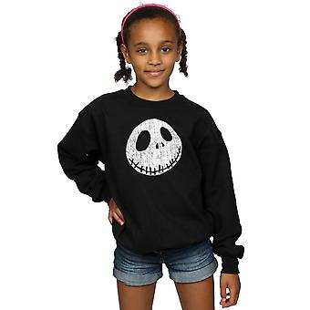 Disney Girls Nightmare Before Christmas Jack Cracked Face Sweatshirt