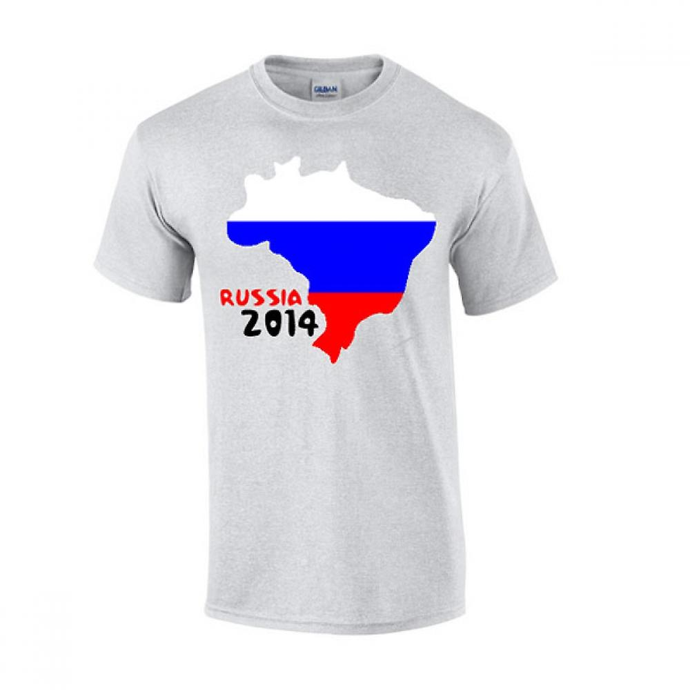 Russia 2014 Country Flag T-shirt (grey)