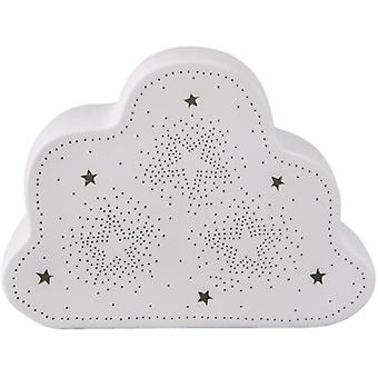 Porcelain table lamp cloud