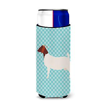 Boer Goat Blue Check Michelob Ultra Hugger for slim cans
