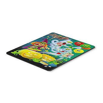 Witch Party with the Ghosts Halloween Mouse Pad, Hot Pad or Trivet