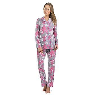 BlackSpade 6119-233 Women's Grey-Pink Floral Pajama Sleepwear Pyjama Set