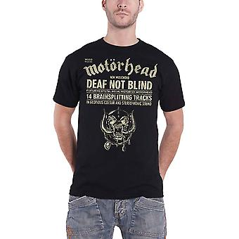 Motorhead T Shirt Deaf Not Blind warpig band logo new Official Mens Black