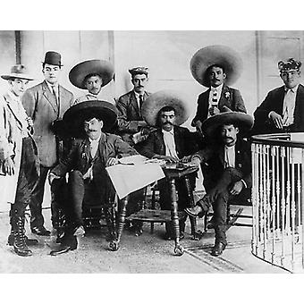 Emiliano Zapata and Staff Mexican Revolution 1912 Poster Print by McMahan Photo Archive (10 x 8)