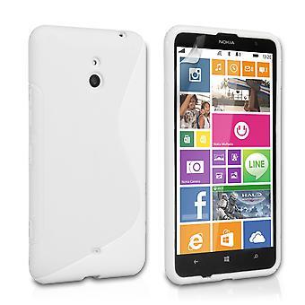 Caseflex Nokia Lumia 1320 silikon Gel S-Line Case - hvit