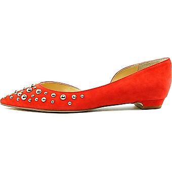 Ivanka Trump Womens Tappin2 Leather Pointed Toe Slide Flats