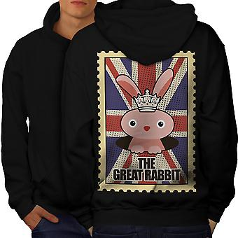 The Great Rabbit Men BlackHoodie Back   Wellcoda