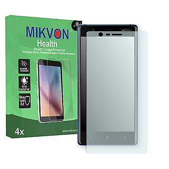 Nokia 3 Screen Protector - Mikvon Health (Retail Package with accessories) (intentionally smaller than the display due to its curved surface)