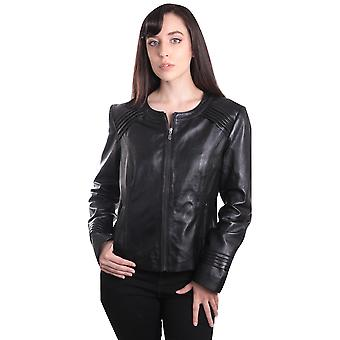Womens Trendy Black Leather Jacket