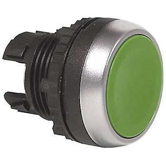 Pushbutton Front ring (PVC), chrome-plated Green