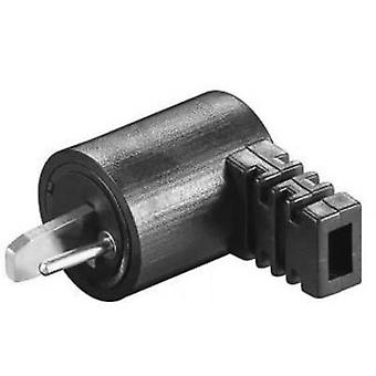 Audio jack Plug, right angle Number of pins: 2 Black 1 pc(s)