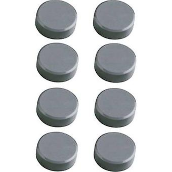 Maul Magnet (Ø x H) 15 mm x 7 mm Facet edge, round Grey 8 pc(s) 6175284