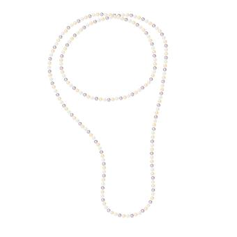 Long necklace Sautoir of 120 cm of freshwater cultured pearls Multicolor