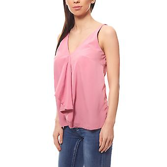 Blouses top Flounce V-neck pink vivance collection