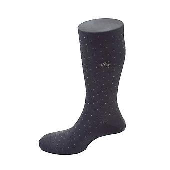 Pindot Cotton Blend Socks – Dark Grey