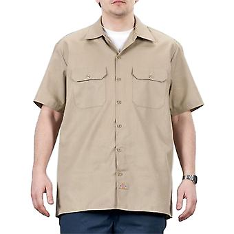 Dickies Short Sleeve Work Shirt - Khaki Dickies1574KH Mens Classic Work Shirt