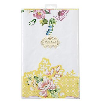 Alice in Wonderland Style Paper Table Cover Vintage Floral x 1 Square