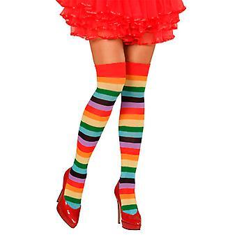 Rainbow Socks Thigh Highs