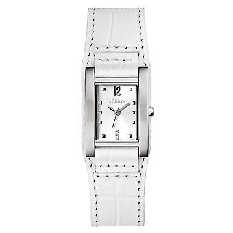 s. Oliver ladies da polso orologio analogico al quarzo pelle SO-15036-LQR