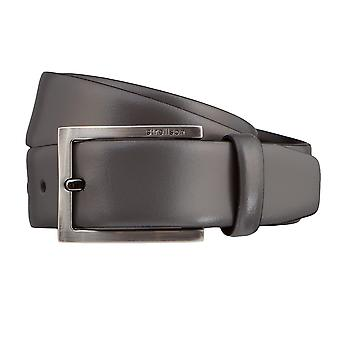 Strellson belts men's belts leather leather belt grey 3189
