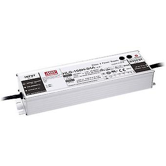 Mean Well HLG-100H-24B LED driver, LED transformer Constant voltage, Constant current 96 W 4 A 12 - 24 Vdc dimmable, PFC