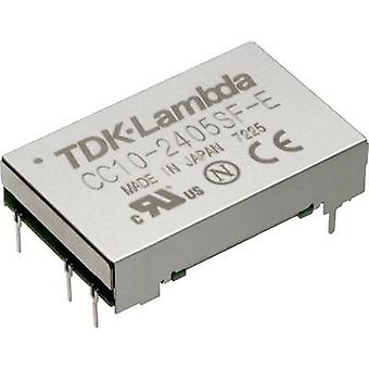 TDK-Lambda CC-10-4812DF-E DC/DC converter (print) 48 Vdc -12 Vdc, 12 Vdc, 15 Vdc 0.45 A 10 W No. of outputs: 1 x