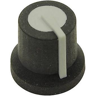 Cliff CL170825MBR Control knob Black/grey (Ø x H) 16.8 mm x 14.5 mm 1 pc(s)
