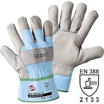 Full-grain cowhide Protective glove Size (gloves): 8, M EN 388:2016 CAT II L+D Granit 1574 1 pair