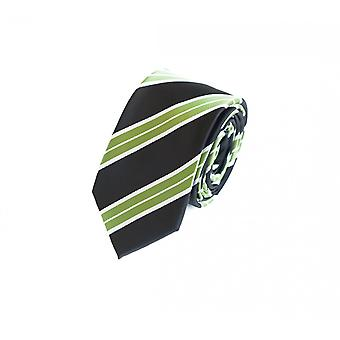 Tie tie tie tie 6cm black green striped uni Fabio Farini