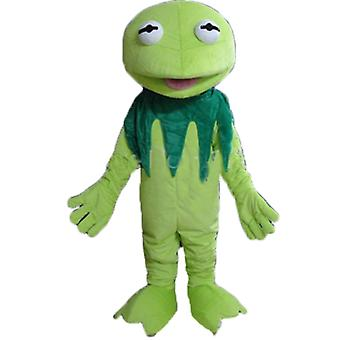 mascot SPOTSOUND of Kermit, famous frog of Muppets Show