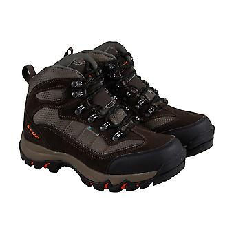 Hi-Tec Skamania Wp Mens Brown Suede & Textile Hiking Boots Shoes
