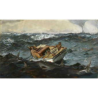 The Gulf Stream, Winslow Homer, 40x60cm with tray
