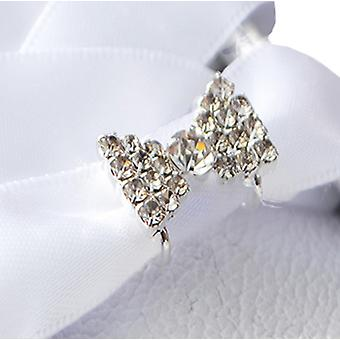 Stunning Crystal Bows Shoe Charms