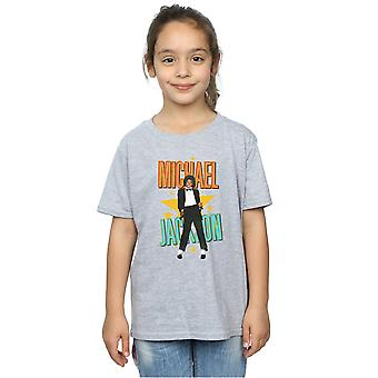 Michael Jackson Girls Retro gwiazda T-Shirt
