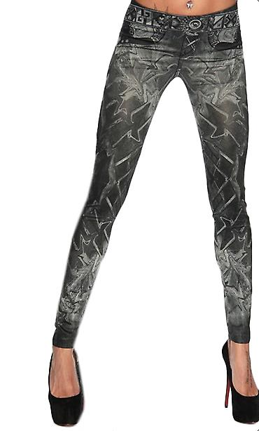 Waooh - Fashion - Denim Legging effect printed