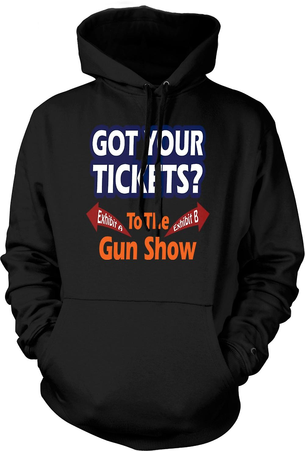 Mens Hoodie - Tickets For Gun Show - Funny