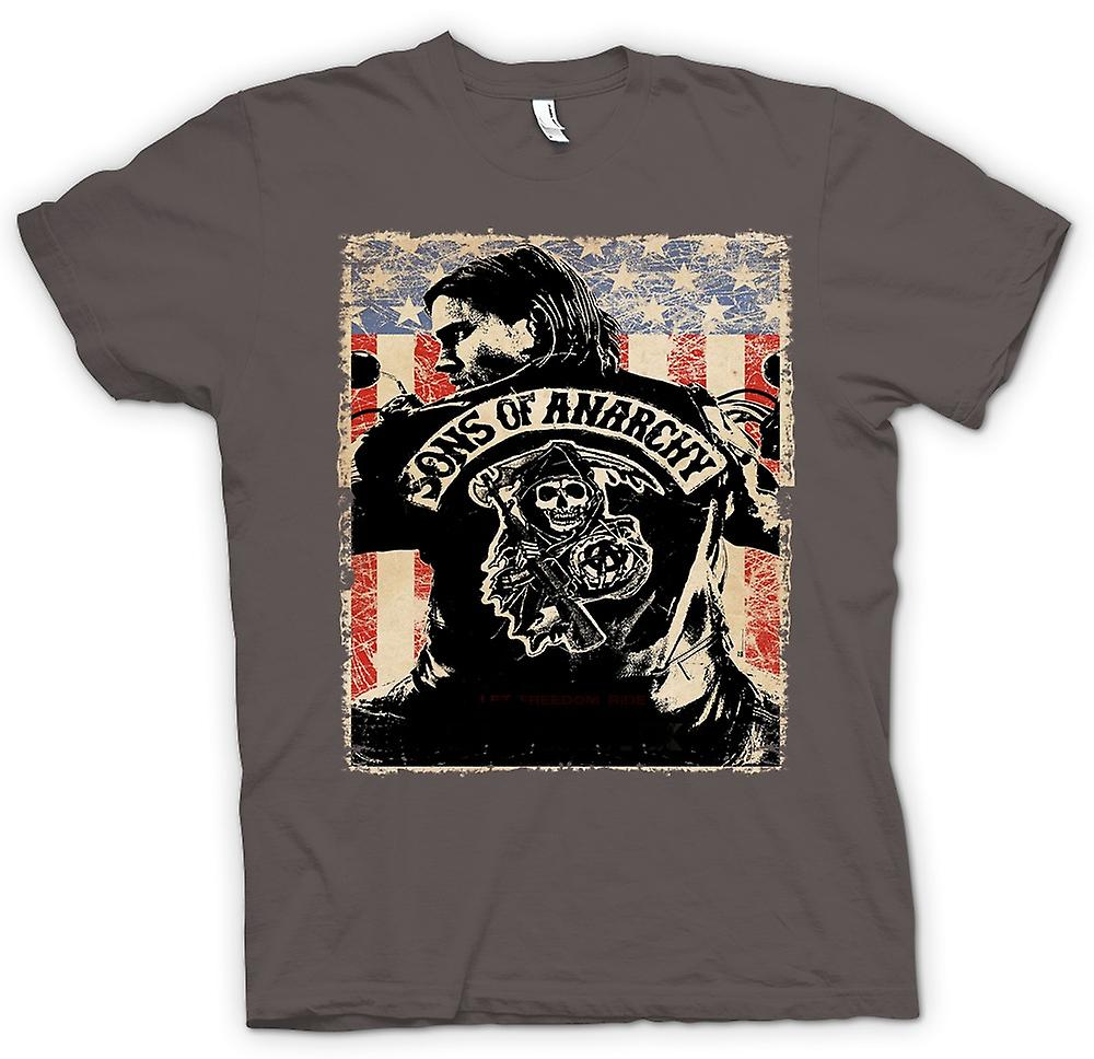 Womens T-shirt - Sons Of Anarchy - Biker Gang - TV Poster