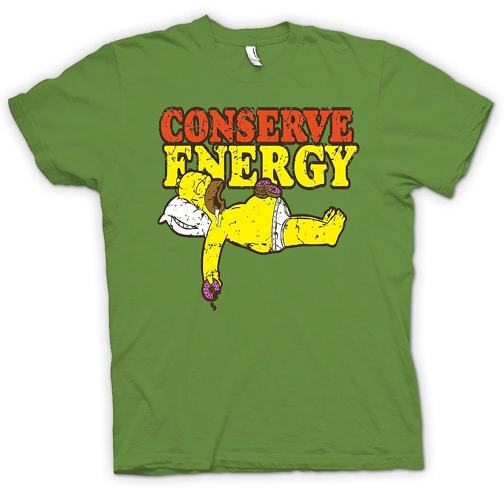 Mens T-shirt - Homer - Conserve Energy