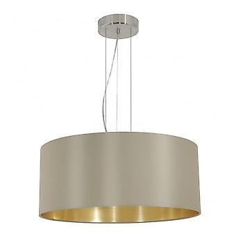 Eglo MASERLO nowoczesne szaro-brązowy i złoty cień wewnętrzny żyrandol