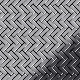 Metal mosaic Stainless Steel ALLOY Herringbone-S-S-MM