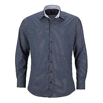 James and Nicholson Mens Classic Fit Dots Shirt