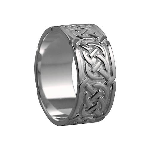 18ct White Gold 8mm Celtic Wedding Ring Size P